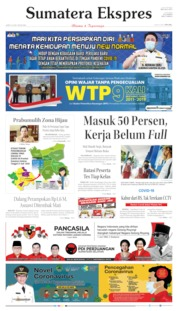 Sumatera Ekspres Cover 19 June 2020