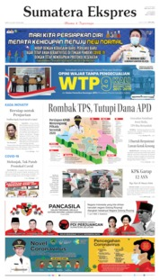 Sumatera Ekspres Cover 20 June 2020