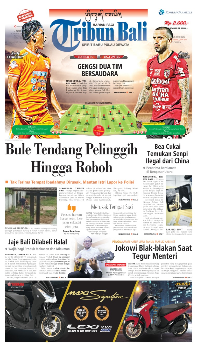 Tribun Bali Digital Newspaper 18 October 2019