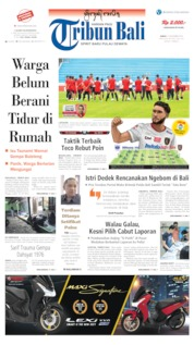 Cover Tribun Bali 15 November 2019