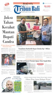 Tribun Bali Cover 30 November 2019