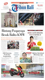 Tribun Bali Cover 01 December 2019