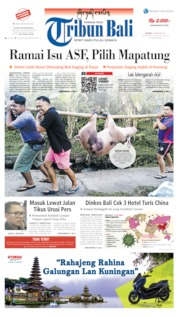 Tribun Bali Cover 18 February 2020