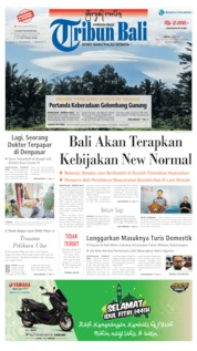 Tribun Bali Cover 23 May 2020