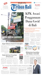 Tribun Bali Cover 29 May 2020