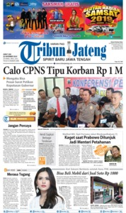 Tribun Jateng Cover 22 November 2019