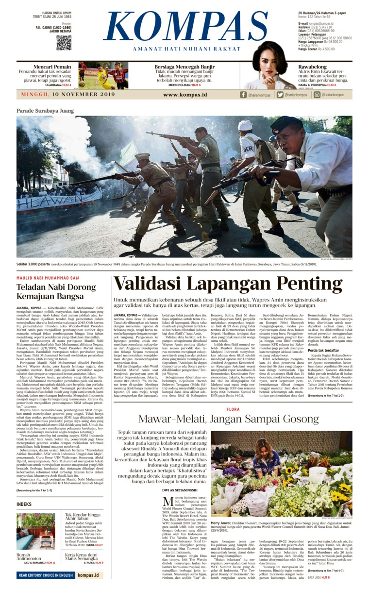 Koran Digital KOMPAS 10 November 2019