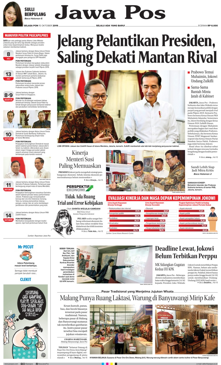 Jawa Pos Digital Newspaper 15 October 2019