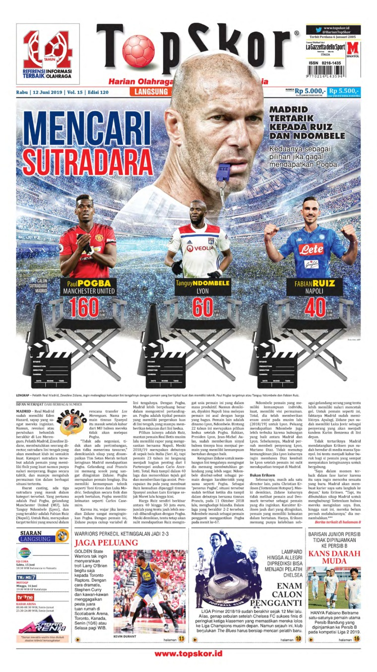 Top Skor Digital Newspaper 12 June 2019
