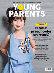 Cover Majalah young parents Singapore Maret 2019