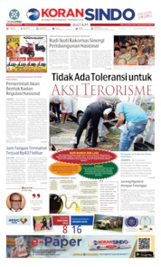 Cover KORAN SINDO BATAM 14 November 2019