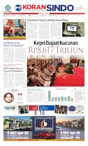 Cover KORAN SINDO BATAM 15 November 2019