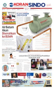 Cover KORAN SINDO BATAM 19 November 2019