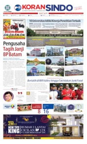 Cover KORAN SINDO BATAM 20 November 2019