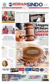 Cover KORAN SINDO BATAM 21 November 2019