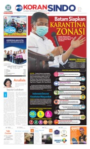 Cover KORAN SINDO BATAM 01 April 2020