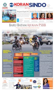 Cover KORAN SINDO BATAM 16 April 2020