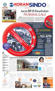 Cover KORAN SINDO BATAM 22 April 2020