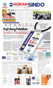 Cover KORAN SINDO BATAM 23 April 2020