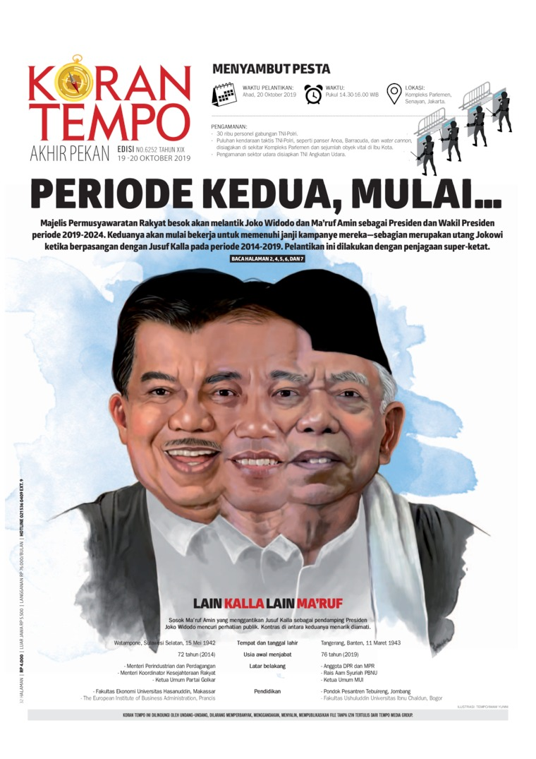 Koran TEMPO Digital Newspaper 19 October 2019