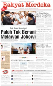 Cover Rakyat Merdeka 10 November 2019