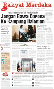 Rakyat Merdeka Cover 27 March 2020