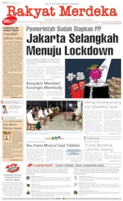 Rakyat Merdeka Cover 28 March 2020