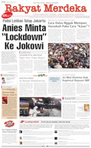 Rakyat Merdeka Cover 30 March 2020