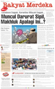 Rakyat Merdeka Cover 31 March 2020