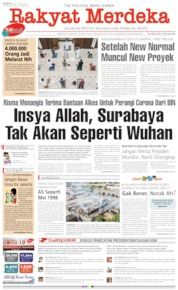 Rakyat Merdeka Cover 30 May 2020