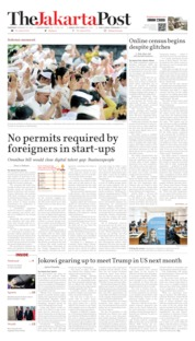 Cover The Jakarta Post 20 Februari 2020