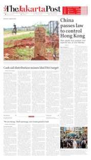 The Jakarta Post Cover 29 May 2020