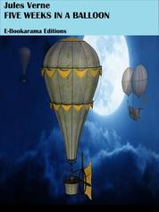 Five weeks in a balloon by Jules Verne Cover