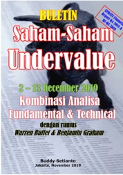 Cover Buletin Saham-Saham Undervalue 02-13 DEC 2019 - Kombinasi Fundamental & Technical Analysis oleh Buddy Setianto