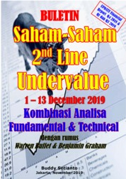 Cover Buletin Saham-Saham 2nd Line Undervalue 02-13 DEC 2019 - Kombinasi Fundamental & Technical Analysis oleh Buddy Setianto