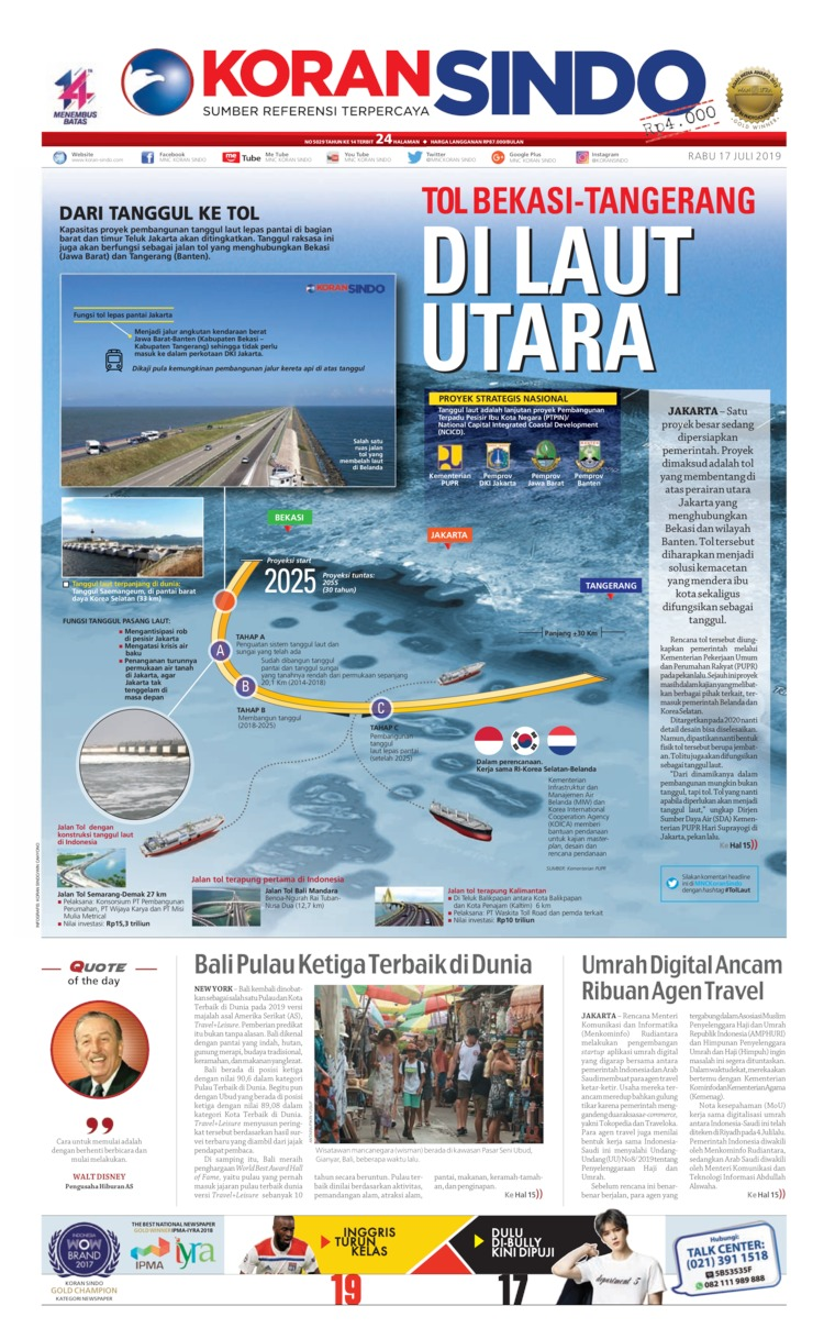 Koran Sindo Digital Newspaper 17 July 2019