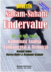 Cover Buletin Saham-Saham Undervalue 18-29 MEI 2020 - Kombinasi Fundamental & Technical Analysis oleh Buddy Setianto