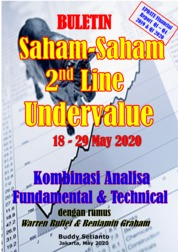 Cover Buletin Saham-Saham 2nd Line Undervalue 18-29 MEI 2020 - Kombinasi Fundamental & Technical Analysis oleh Buddy Setianto