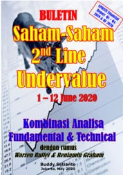 Buletin Saham-Saham 2nd Line Undervalue 01-12 JUN 2020 - Kombinasi Fundamental & Technical Analysis by Buddy Setianto Cover