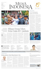 Cover Media Indonesia 22 Februari 2020