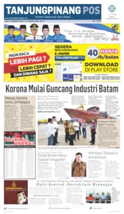 Tanjungpinang Pos Cover 19 February 2020