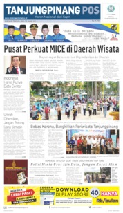 Tanjungpinang Pos Cover 29 February 2020