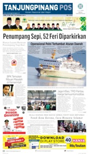 Tanjungpinang Pos Cover 13 May 2020