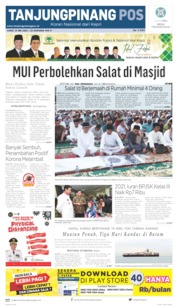 Tanjungpinang Pos Cover 15 May 2020
