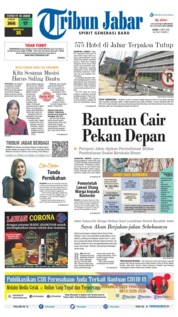 Cover Tribun Jabar 09 April 2020