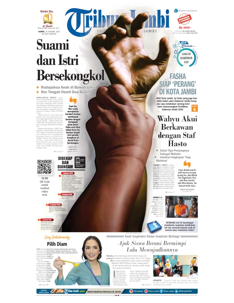 Tribun Jambi Digital Newspaper 16 January 2020