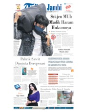Tribun Jambi Cover 04 April 2020