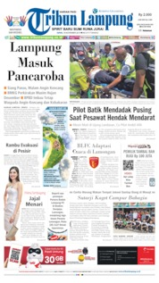 Cover Tribun Lampung 18 November 2019