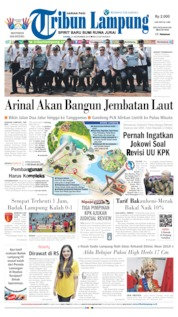 Cover Tribun Lampung 21 November 2019