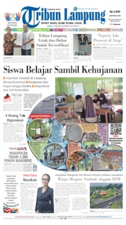 Tribun Lampung Cover 22 February 2020